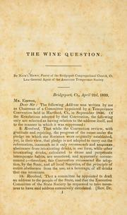 Cover of: The wine question | Nathaniel Hewit