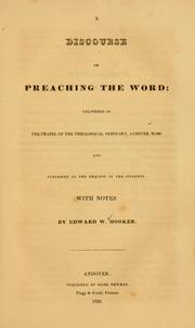 Cover of: A discourse on preaching the Word