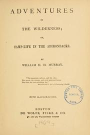 Cover of: Adventures in the wilderness = | W. H. H. Murray