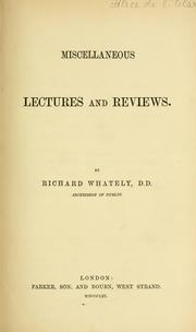 Cover of: Miscellaneous lectures and reviews