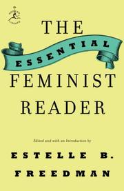 Cover of: The Essential Feminist Reader