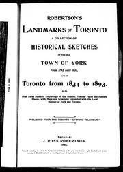 Landmarks of Toronto by J. Ross Robertson