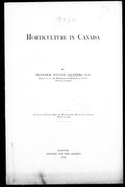Cover of: Horticulture in Canada