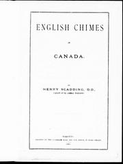 Cover of: English chimes in Canada | Henry Scadding