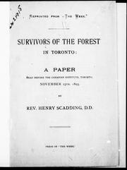 Cover of: Survivors of the forest in Toronto: a paper read before the Canadian Institute, Toronto, November 25th, 1893