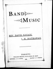 Cover of: Band music |