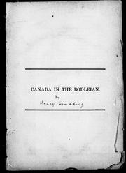 Cover of: Canada in the Bodleian
