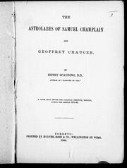 Cover of: The astrolabes of Samuel Champlain and Geoffrey Chaucer |