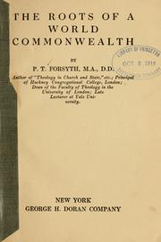 Cover of: The roots of a world commonwealth
