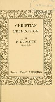 Cover of: Christian perfection