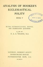 Analysis of Hookers Ecclesiastical polity, Book V