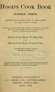 Cover of: Hood's cook book number three