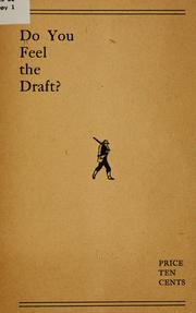 Cover of: Do you feel the draft? |