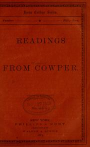 Cover of: Readings from Cowper
