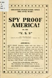 Cover of: Spy proof America! | J. Francis Logan