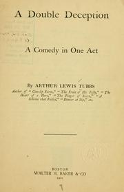 Cover of: A double deception | Arthur Lewis Tubbs