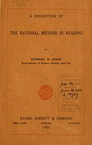 Cover of: description of The rational method in reading | Edward Gendar Ward