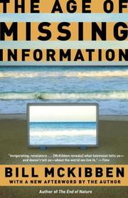 Cover of: The Age of Missing Information