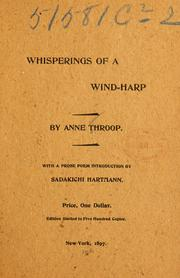 Cover of: Whisperings of a wind-harp | Anne Throop
