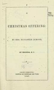 Cover of: A Christmas offering