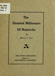 Cover of: The haunted millionaire of Montecito