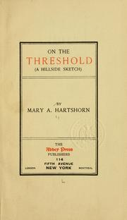 Cover of: On the threshold (a hillside sketch