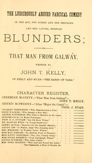 Cover of: Blunders | John T. Kelly