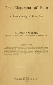 Cover of: The elopement of Ellen