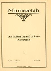 Cover of: Minnecotah | Thomas McNeill