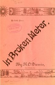 Cover of: In broken meter