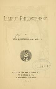 Cover of: Liliput philosophers