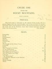 Cover of: Crude ore from the Rocky Mountains
