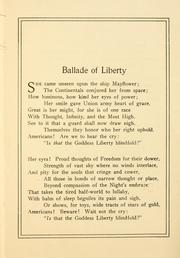 Cover of: Ballade of liberty, and other patriotic verses | Emma Frances Dawson