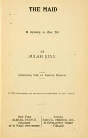 Cover of: maid | Beulah King