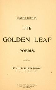 Cover of: The golden leaf