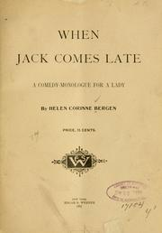 Cover of: When Jack comes late