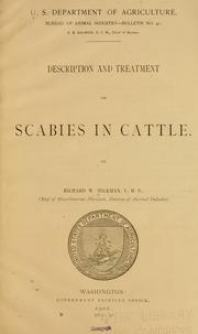 Cover of: Description and treatment of scabies in cattle. | Richard W. Hickman