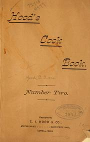 Cover of: Hood's cook book number two