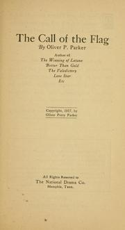 Cover of: The call of the flag