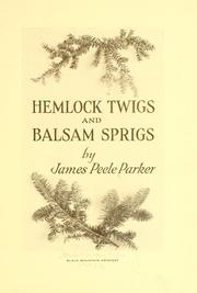 Cover of: Hemlock twigs and balsam sprigs