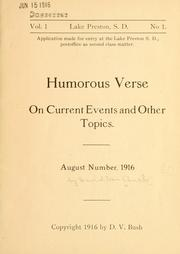 Cover of: Humorous verse on current events and other topics