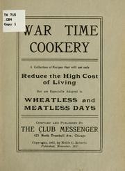 Cover of: War time cookery