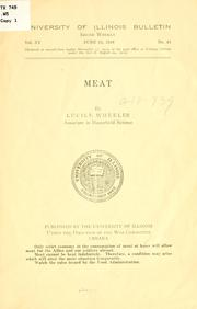 Cover of: Meat