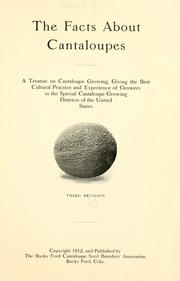 Cover of: The facts about cantaloupes