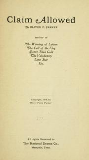 Cover of: The claim allowed