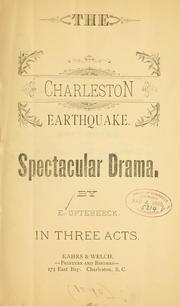 Cover of: The Charleston earthquake ..