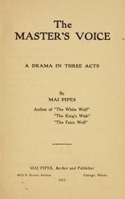 Cover of: The master's voice ..