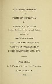 Cover of: The poet's memories and poems of inspiration