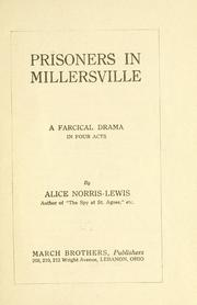 Cover of: Prisoners in MIllersville ..