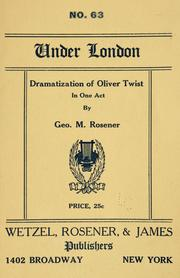 Cover of: Dramatization of Oliver Twist ..